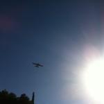 Löschflugzeug über Koroni