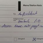 Telefonnotiz Alemannia Aachen Investor