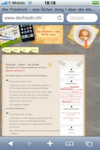 derfriedri.ch - iphone safari