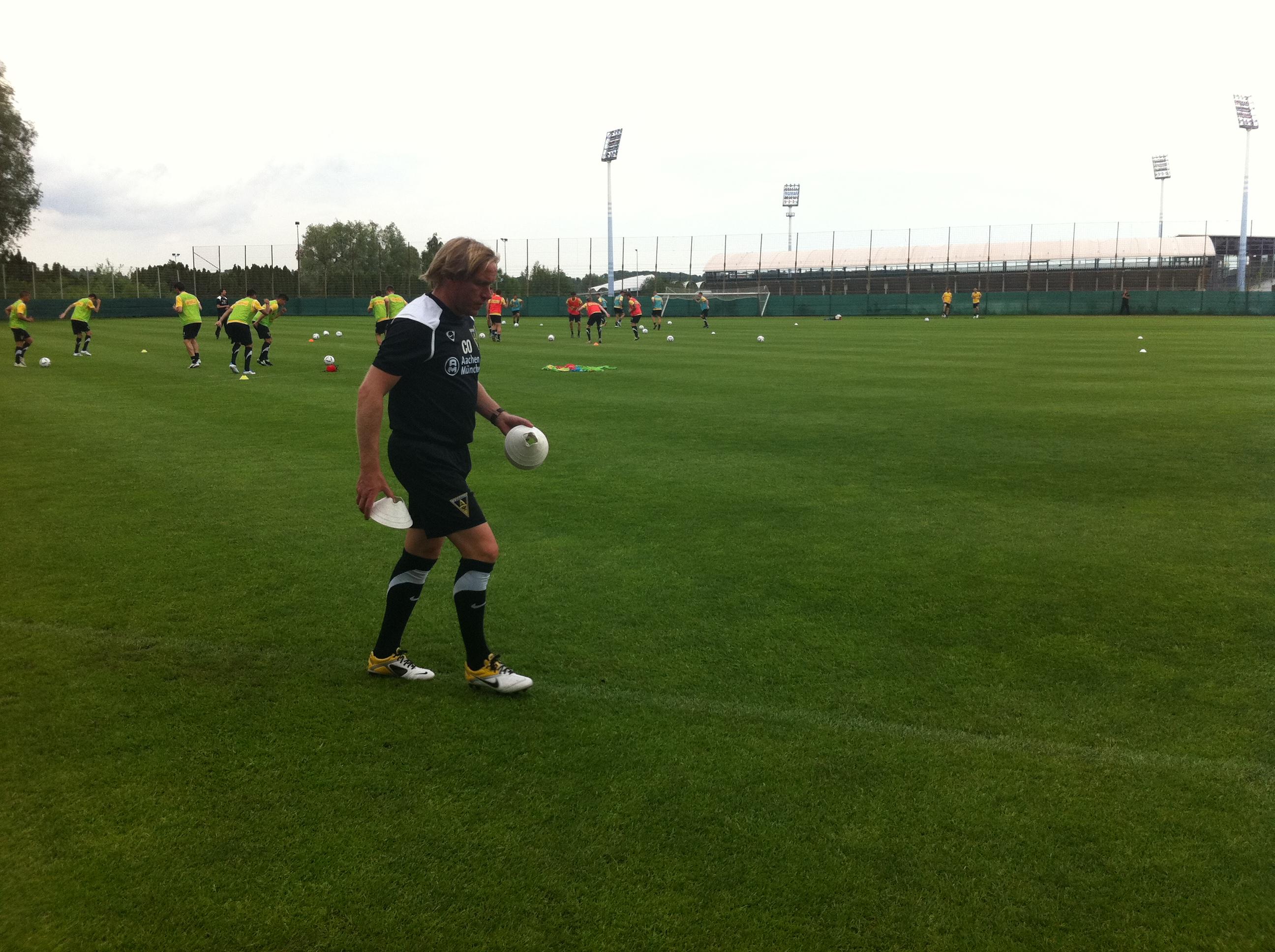 Trainingsauftakt mit Eric van der Luer