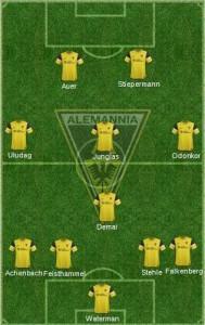 Aufstellung TSV Alemannia Aachen