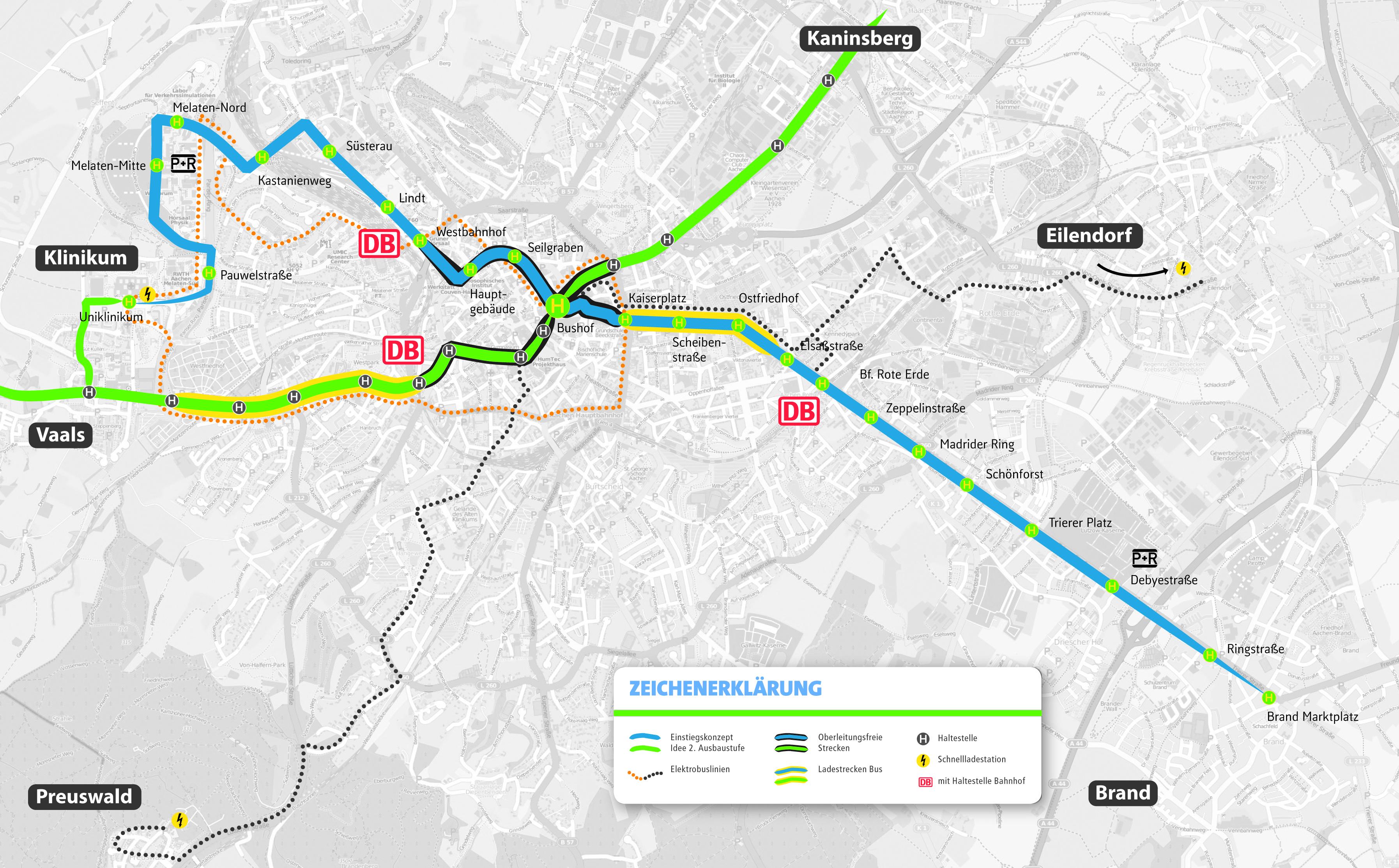 Liniennetzkonzept der Campusbahn