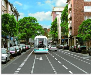 Campusbahn auf dem Hirschgraben - Montage (TEMA AG)