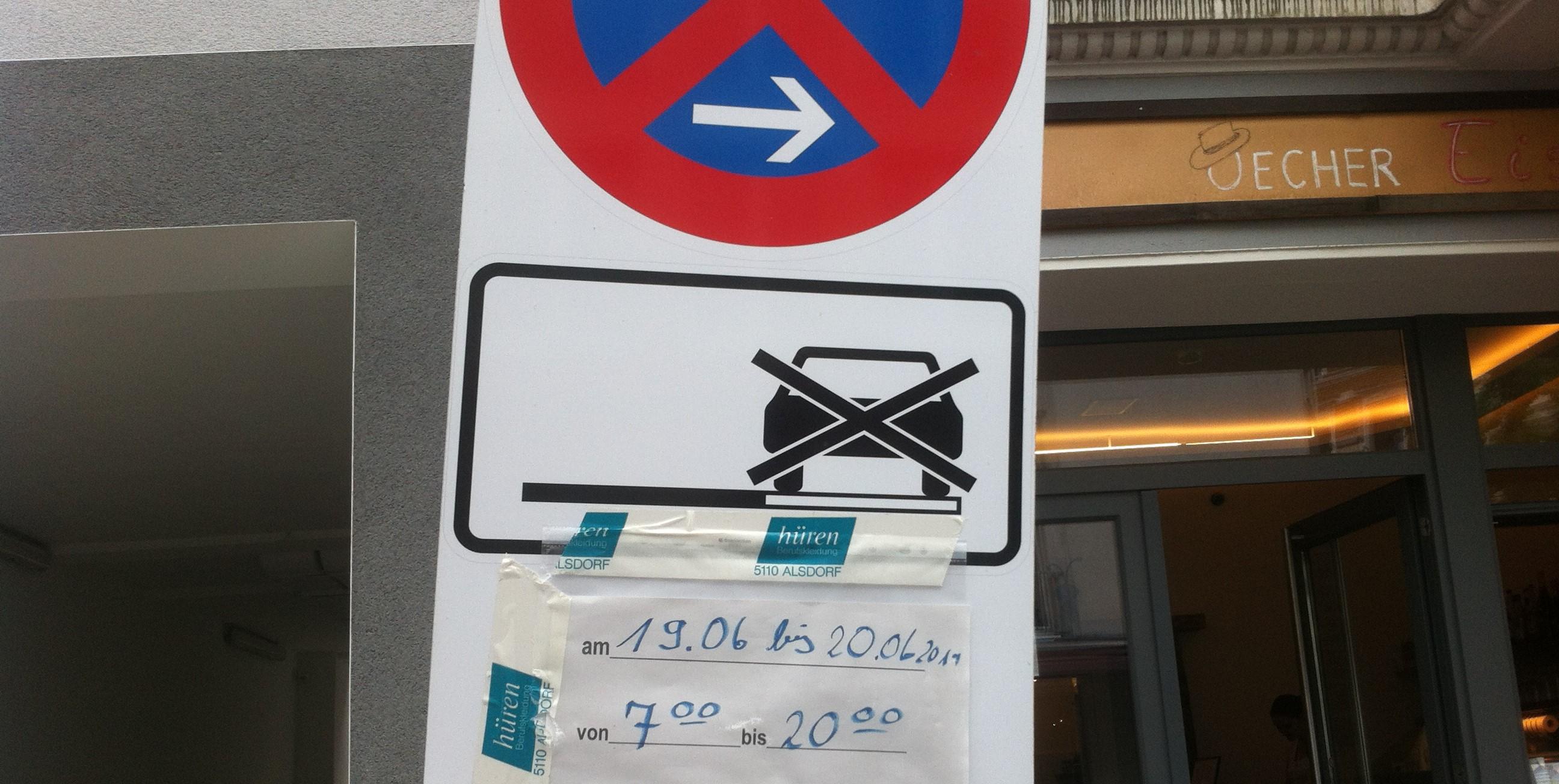 Halteverbotszone in Aachen