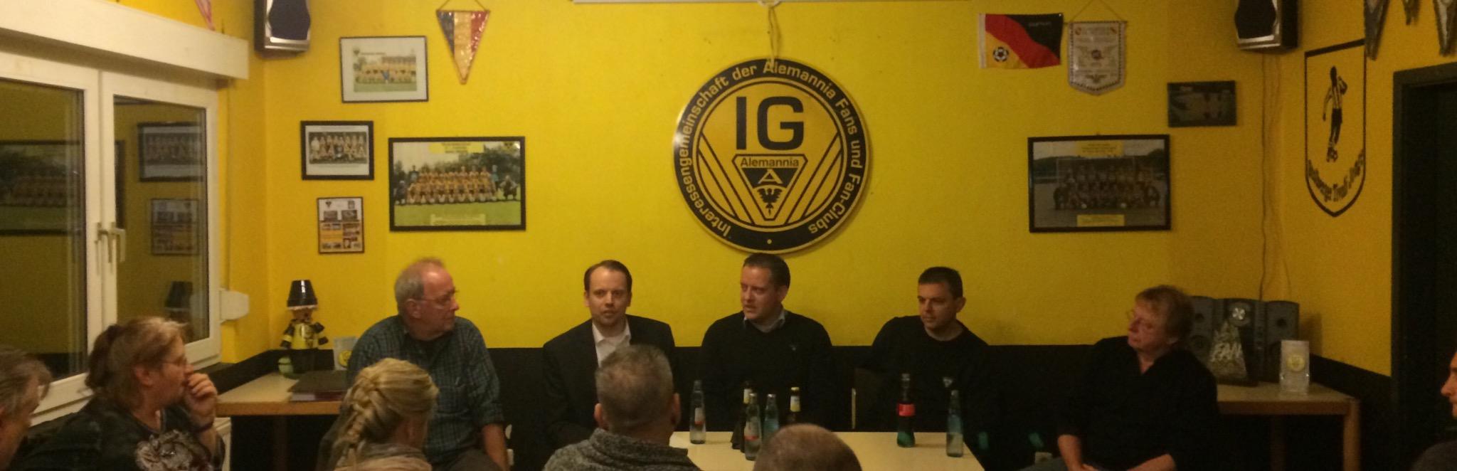 Diskussionsabend im Werner-Fuchs-Haus zum Erhalt des Klömpchensklub im Tivoli