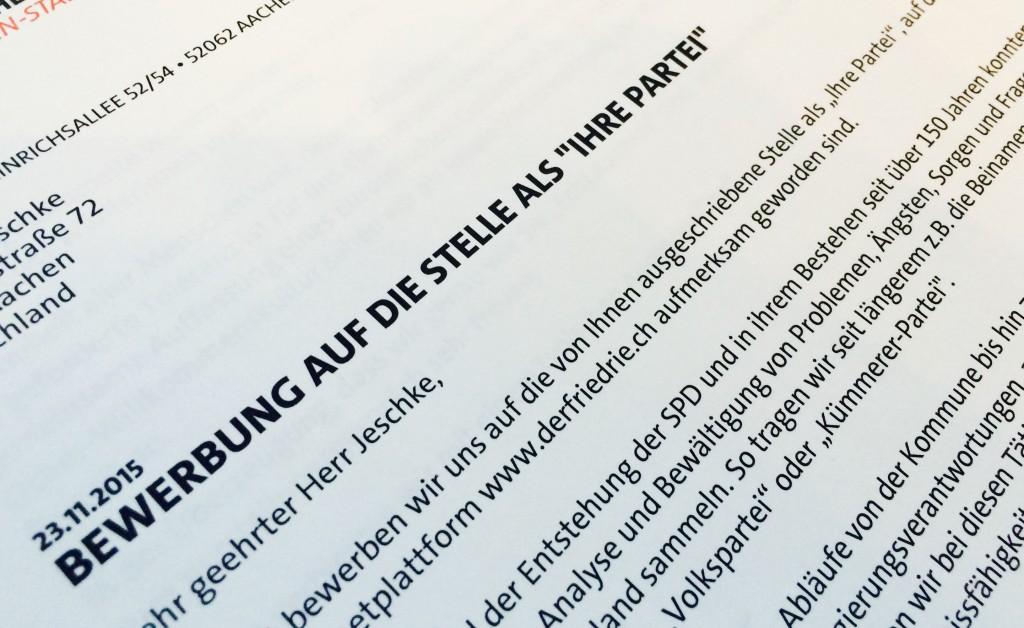 Bewerbung der SPD Aachen als politische Partei