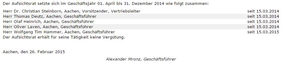 Bilanz AA 2014 Datum