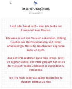 SPD Beitritt vor einem Jahr