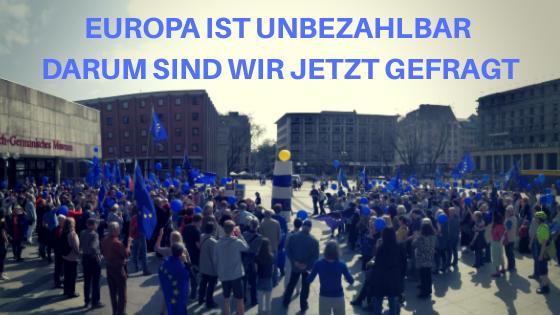 Europa braucht uns jetzt