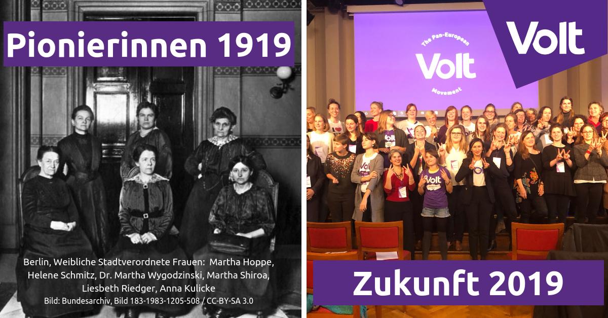 100 Jahre Frauenwahlrecht Volt EuropA Deutschland