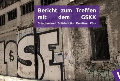 Griechenland Solidaritäts Komitee Köln GSKK Treffen Volt Friedrich Jeschke Europa