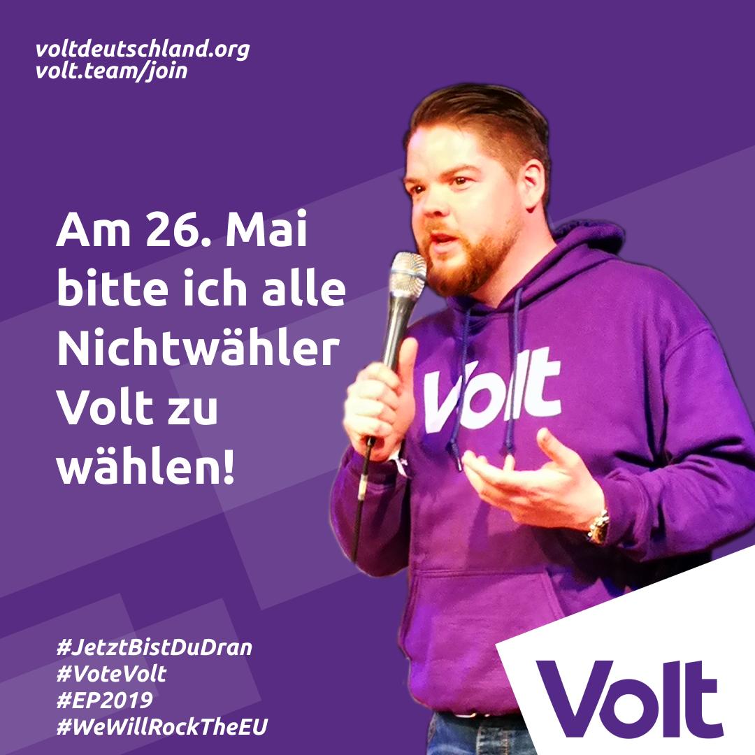 Friedrich Jeschke Volt Europa Nichtwähler bitte Europawahl wählen