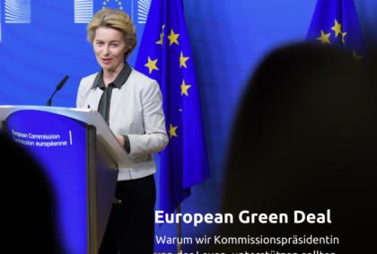 von der leyen green new Deal Europa Volt Friedrich Jeschke derFriedri.ch