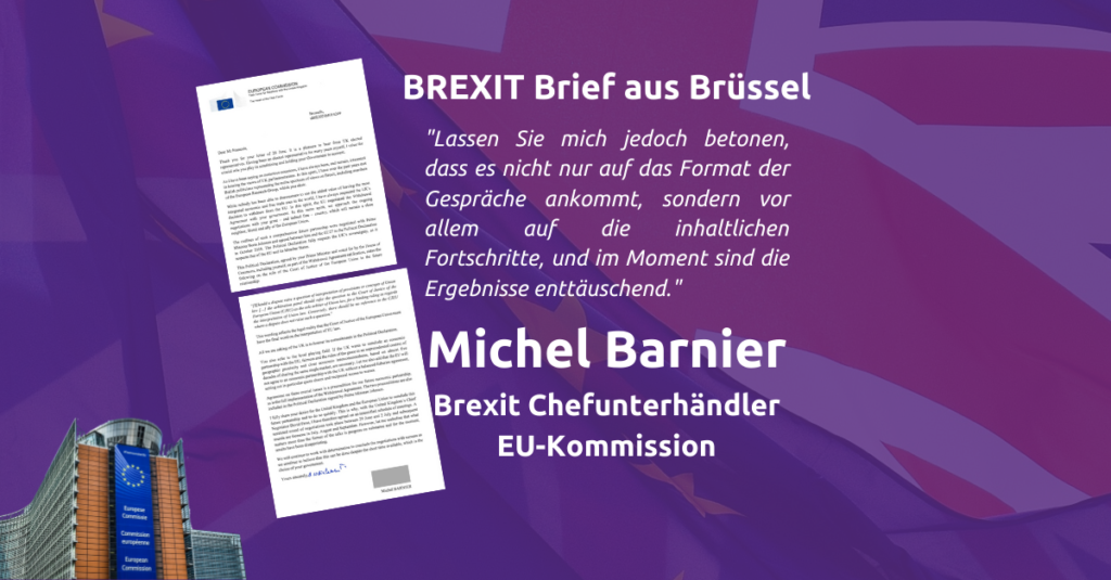Michel Barnier francois EU commission kommission brief letter brexit friedrich jeschke volt europe europa aachen köln nrw