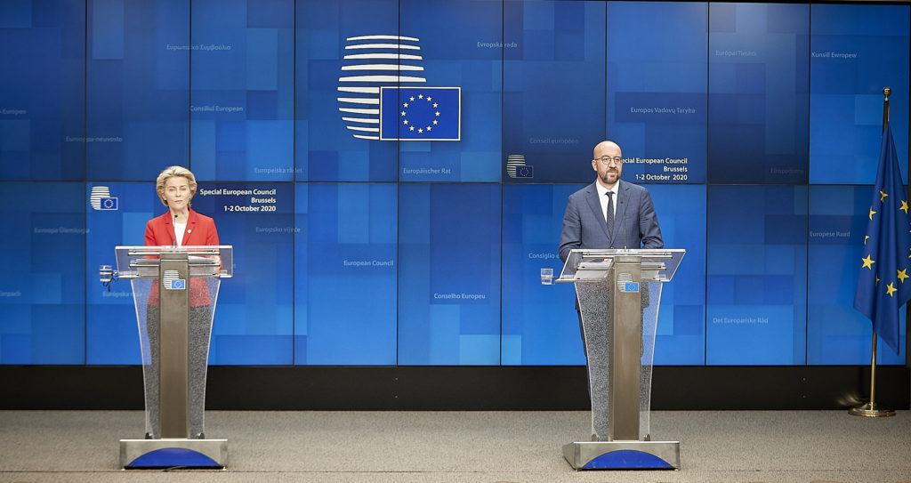 Ursula von der Leyen, Präsidentin der EU-Kommission und Charles Michel, Präsident des Europäischen Rates. Bild: European Union